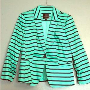 The Limited 3/4 Sleeve Blazer Mint/Black Like New